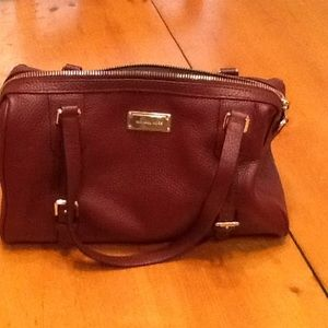 Michael kors burgundy satchel